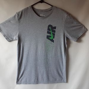 Nike Air men's gray short-sleeve t-shirt